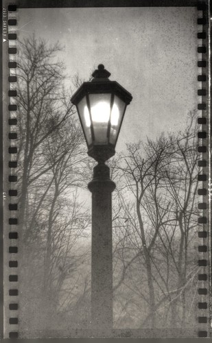 Streetlight in Aerographic Film