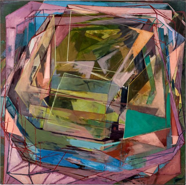 Kreisprozess, 120 x 120 cm, Eitempera,Öl/Pigmente, 2013