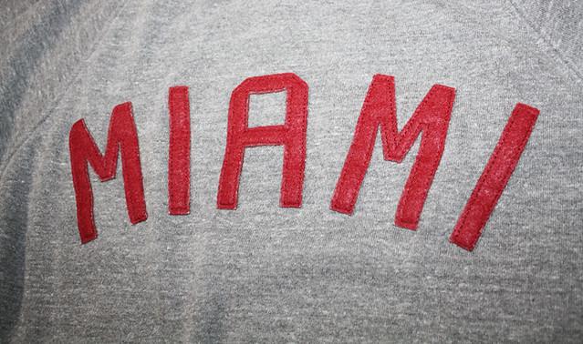 Sportiqe Miami Heat Hand Sewn Lettering