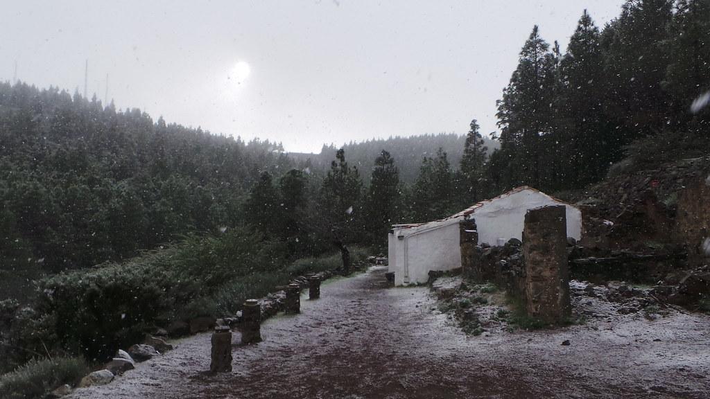 Nieve en La Cumbre de Gran Canaria (09-01-2014)