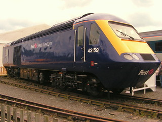 One of the locomotives which set the world speed record for a diesel train