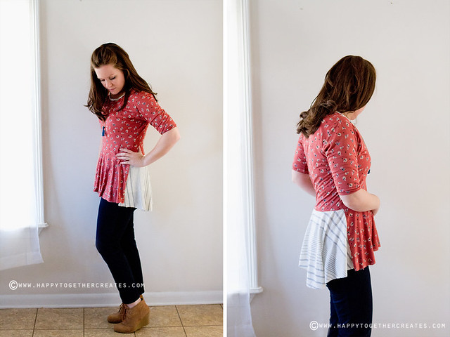 Penelope Peplum Top sewn by Happy Together