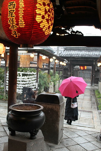 Shrine in the rain