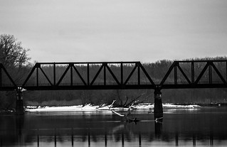Connecticut River railroad bridge, Hartford - East Hartford CT