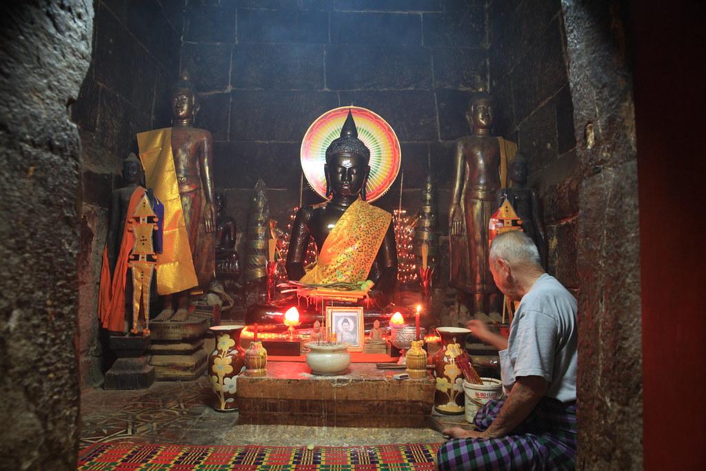OunaLom Pagoda, Phnom Penh, Cambodja, 3 februari 2014