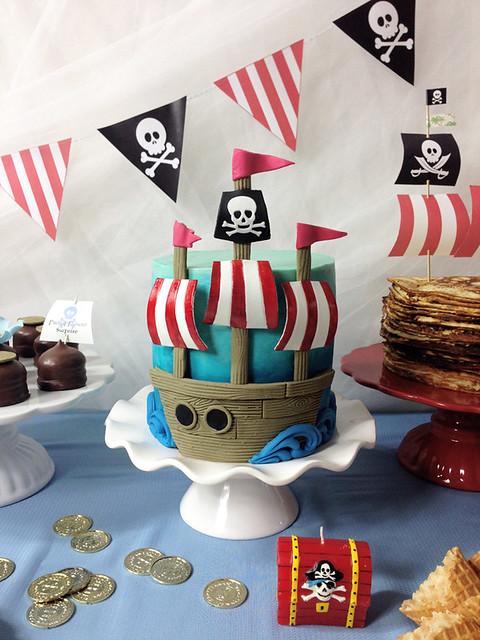 pirattårta båt