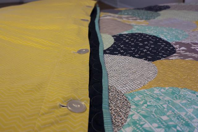 Glam Clam Quilt Duvet closeup