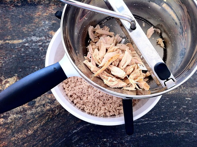 Grinding Turkey in Food Mill by @javelinwarrior
