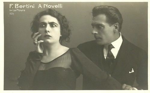 Francesca Bertini and Amleto Novelli in La piovra