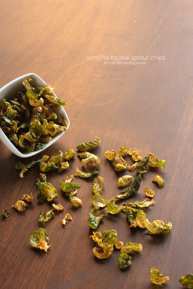 Sriracha Brussels Sprout Chips are like kale chips, but cuter!
