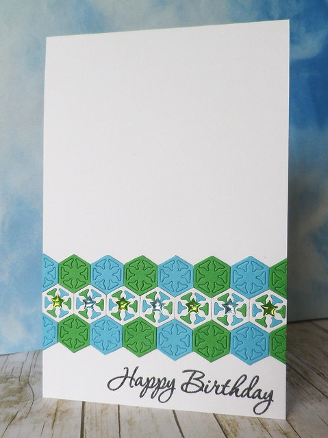 Birthday Border from Snowflakes