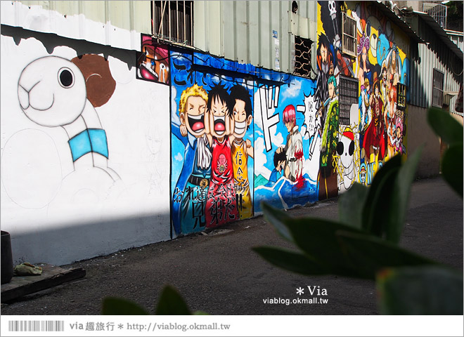 【台中海賊王彩繪】台中新遊點!小巷裡出現海賊王彩繪牆~ONE PIECE迷必訪!23