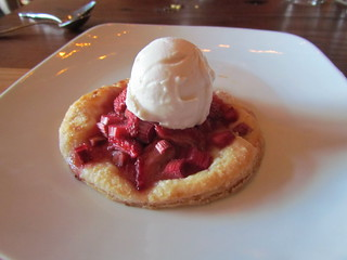 Rhubarb Strawberry Tart at Portobello