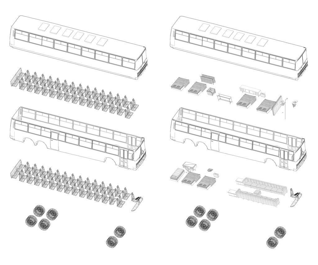 Bus Hotel transformation