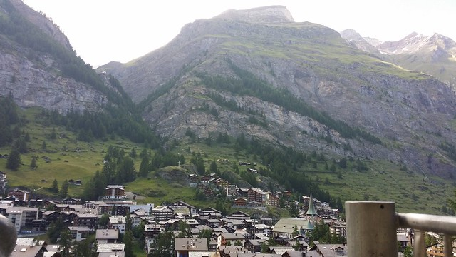 Zermatt, from the Youth Hostel.