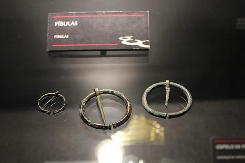 Fíbula Romana. Museo Arqueolóxico de Santa Trega. A Guarda. Galiza. Património Nacional Galego