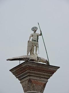 Image of Colonna di San Teodoro near Venice. ヴェネツィア venice venezia βενετία sculpture