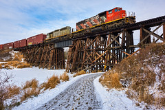 Freight on the Sangudo Sub, Alberta