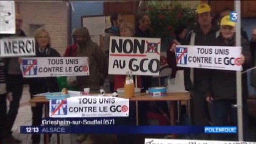 JT 12/13 Alsace 2016-1105 : Griesheim-sur-Souffel manifeste contre #GCO