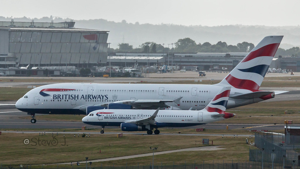 British Airways A380 & A320 (G-XLEA & G-EUYT)