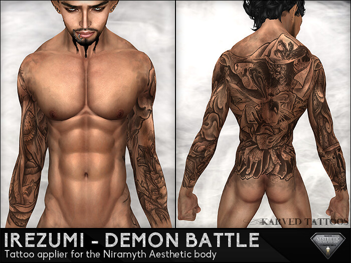 KARVED Tattoo - Irezumi Demon Battle 01 MP - SecondLifeHub.com
