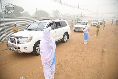 Arrival of Her Holiness on the Samagam Venue