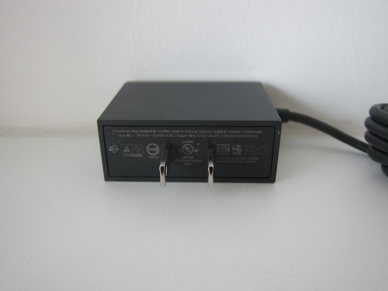 Google Chromecast Ultra - Ethernet Adapter - US 2-Pin Plug