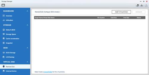 จากนั้นไปที่ Remote Disk แล้วเลือก Add Virtual Disk