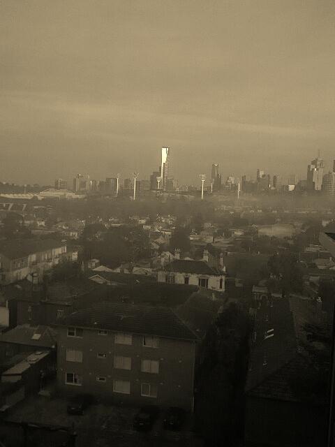 fog across Melbourne