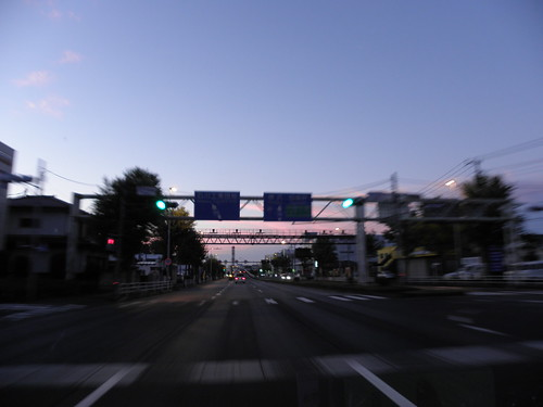 夜明け 左入町 八王子市