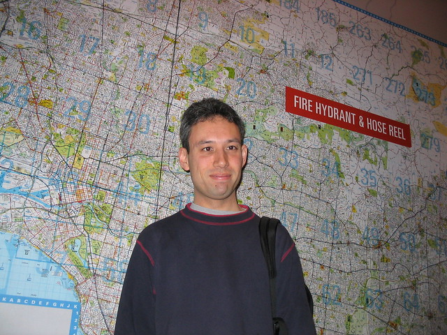 Daniel at the Melbourne Museum, July 2003