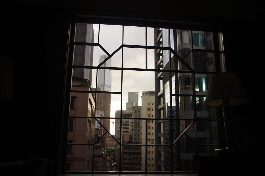 飯店房間看出去的景色