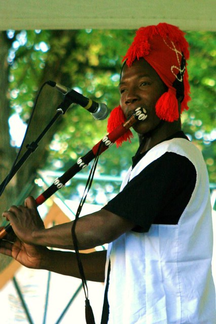 Mamady Mansare playing the flute