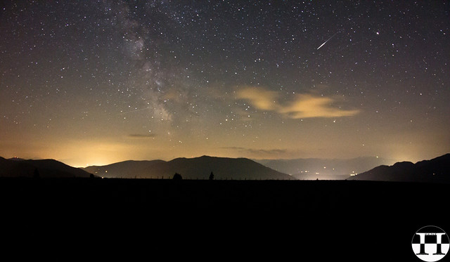 Shooting Star Meets Milkyway