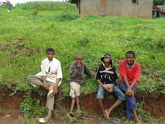 The victims of the Lake Nyos poisonous gas explosion and their descendants have been living in seven resettlement camps near the area. These children live in the Upkwa camp in Menchum Division, North West Region, Cameroon. Credit: Monde Kingsley Nfor/IPS