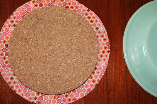 Fabric covered cork board tutorial pic 1
