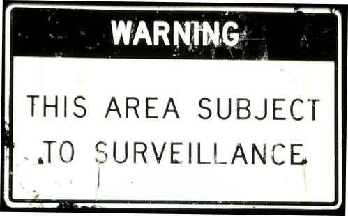 surveillance sign -c