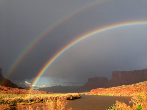 usa utah rainbow coloradoriver moab
