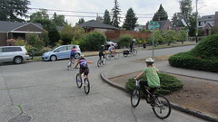 Bike to Middle School Orientation: Getting used to riding in the road