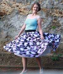 Jazzy circle skirt