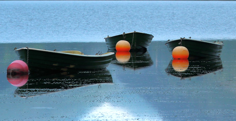 Tal-y-Llyn Boats at Dusk