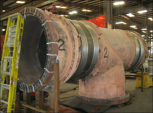 "60"" Dia. Elbow Pressure Balanced Expansion Joint Refurbished in 3 Weeks for a Power Generation Plant"