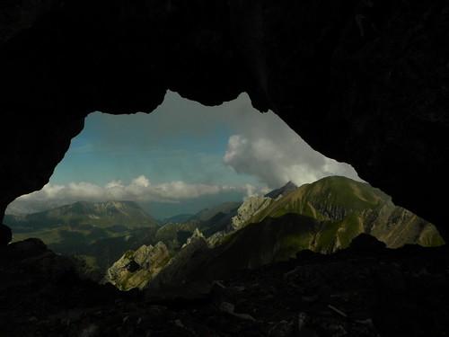 Paysage des Aravis vu du Trou de la Mouche