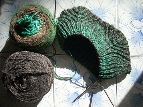 Cowl in progress by Asplund