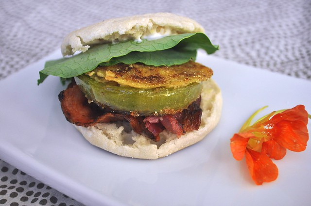 The Perfect Fried Green Tomato Sandwich