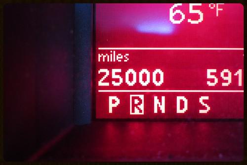 25000 miles!