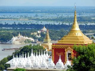 U Min Thonze Cave, view down Sagaing Hills 3