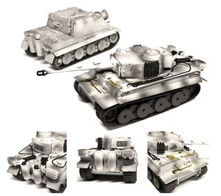 Easy Model - Tiger 1 (Early Type) SS LAH 1943