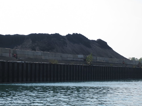 Petcoke Piles on the Calumet by jmogs via Flickr