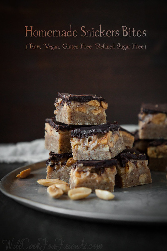 "Raw, Vegan, Gluten-Free ""Snickers"" Bites - who says candy can't be healthy?!"